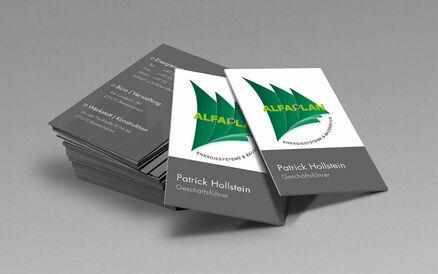 Visitenkarten mit partiellem Relieflack